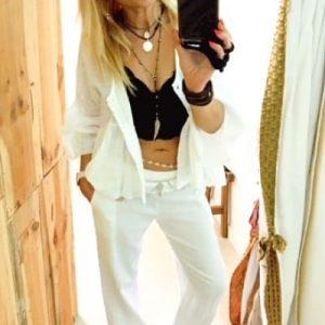 pantalones lino algodon